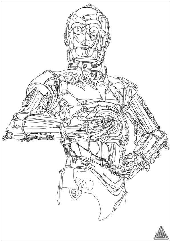 圧倒的過ぎる 一筆描き で描かれたスター ウォーズのイラスト Dna