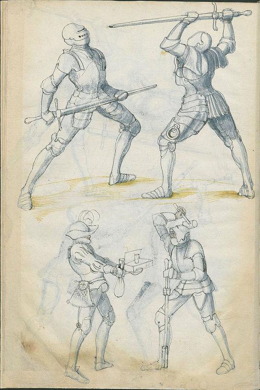 カラーイラストいっぱい1500年代に描かれた西洋剣術の指南書