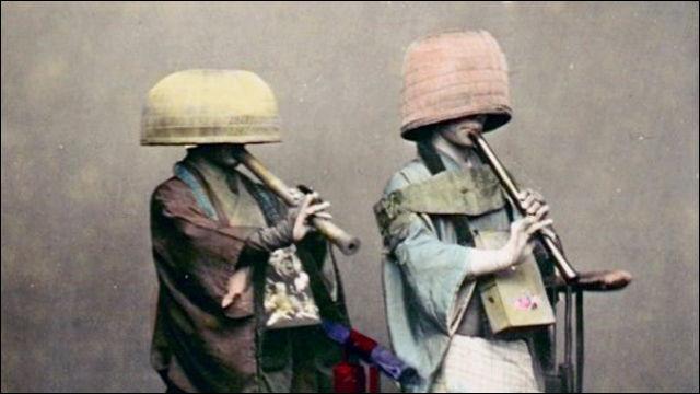1900年代はじめごろに撮影された日本の虚無僧たちの写真いろいろ - DNA