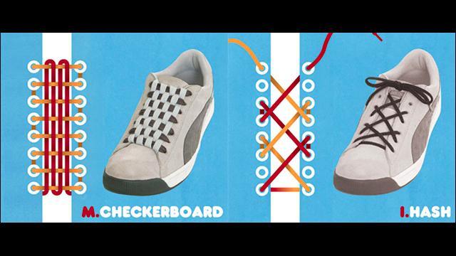 気分やTPOで選べるクールな靴ひもの結び方のイラスト16選 , DNA