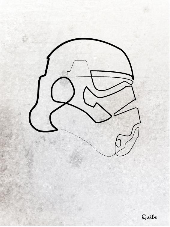 One Line Art Faces : 映画キャラクターたちのさらさらっとシンプルに描かれた一筆書きイラスト 枚 dna