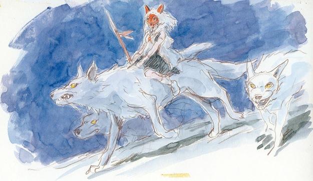 山犬にまたがるサン