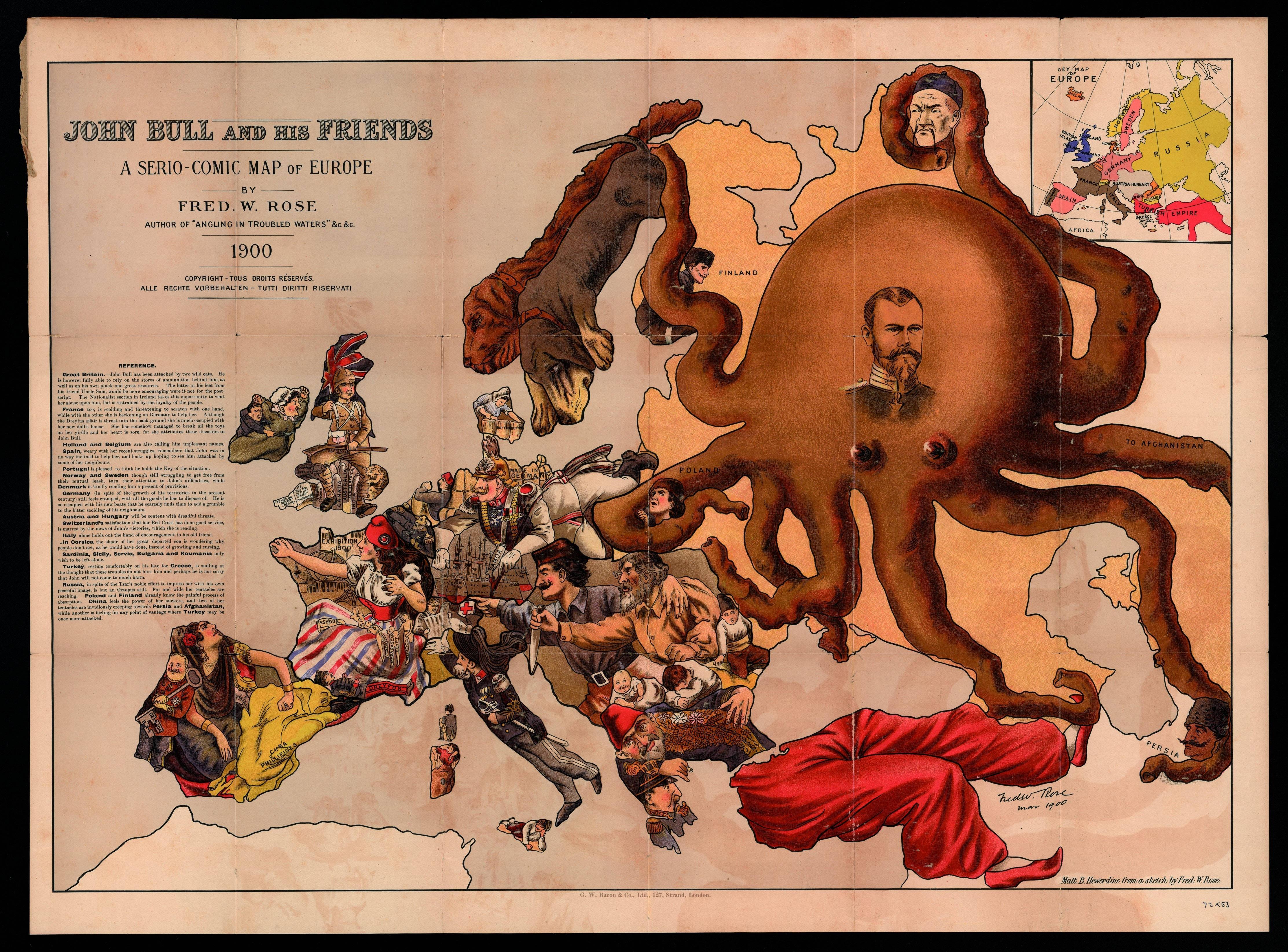 風刺・皮肉の効きまくった20世紀初頭ごろのヨーロッパ地図いろいろ