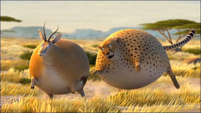 まんまるに太ったアフリカの野生動物がかわいいアニメーション動画シリーズ「rollin' Safari」4本 Dna