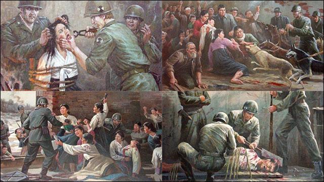 [閲覧注意] 北朝鮮の恐ろしすぎるプロパガンダ・ポスター12枚