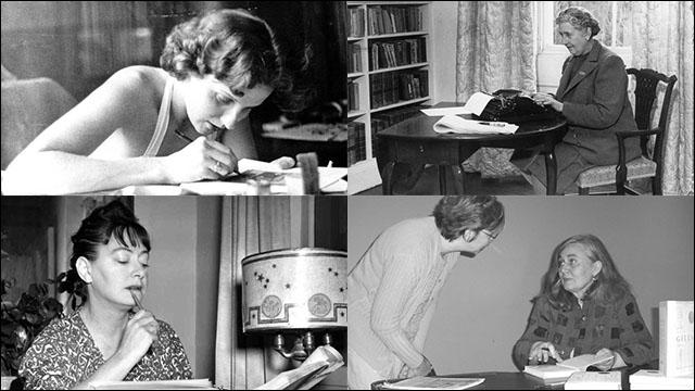 著名な女流作家たちの仕事中を撮...