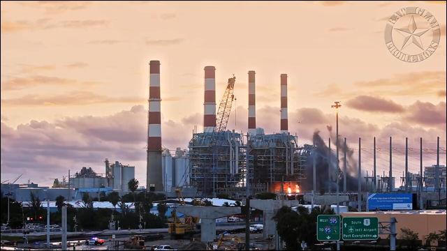 1960年代の老朽化した火力発電所を爆破している動画