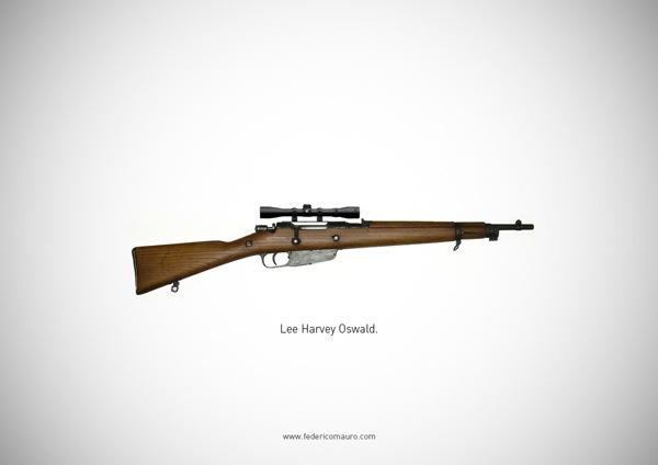 映画の登場人物や有名人が愛用した超有名な銃の写真集「Famous Guns」