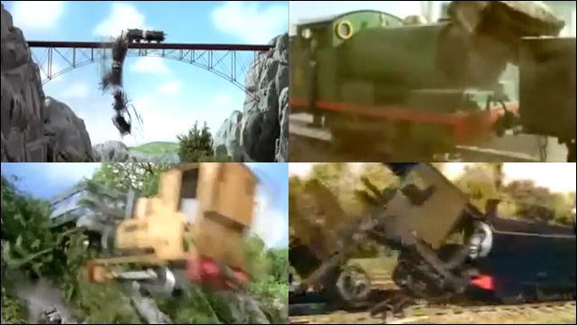 機関車トーマスが「let The Bodies Hit The Floor」のデスボイスに合わせて事故りまくる動画