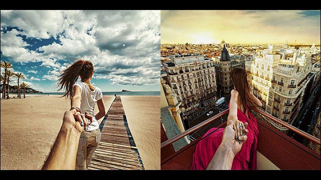 彼女に手を引かれて世界中を旅す...