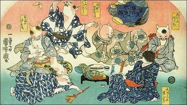 江戸時代の猫