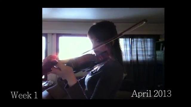 初心者がバイオリンを2年間練習し続けるとこんなにも上手になるという比較動画