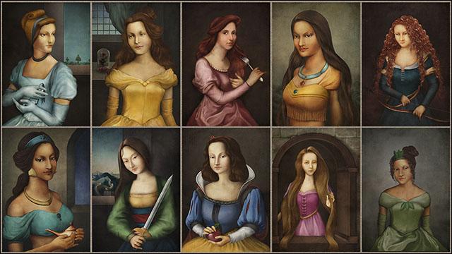 もし中世ヨーロッパに実在したら10人のディズニープリンセスを
