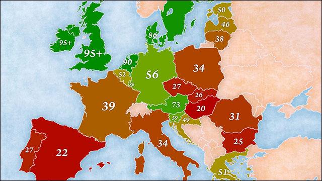 EU諸国で英語はどれくらい通じる...