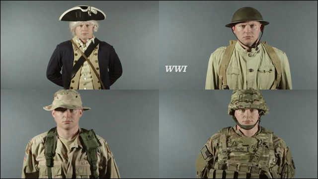 240年間にわたるアメリカ陸軍の...