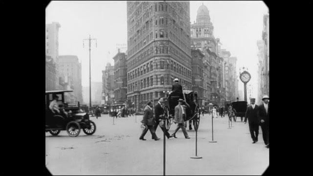 100年前から大都会 1911年のニューヨークを撮影した貴重なモノクロ映像 ...